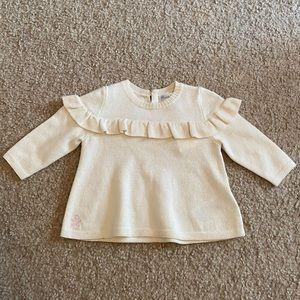 Ralph Lauren cream colored sweater 6 months
